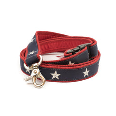 North Star Dog Leash - Red Webbing