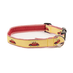 VW Bug Dog Collar - Red Gingham
