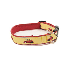 VW Bug Dog Collar - Red Webbing