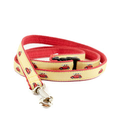 VW Bug Dog Leash - Red Webbing