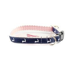 Cape Cod Dog Collar - Pink Seersucker