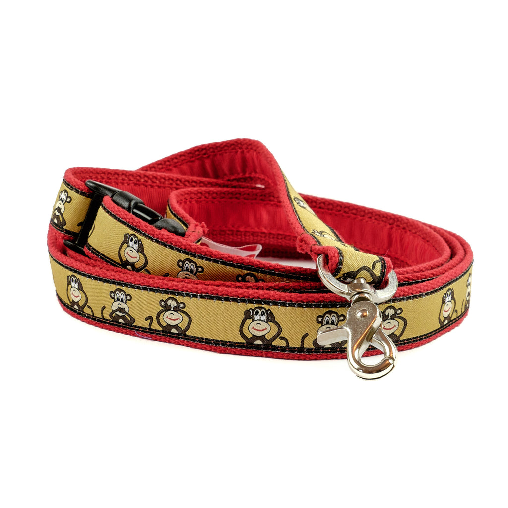 Monkey Dog Leash - Red Webbing