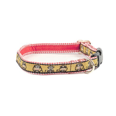 Monkey Dog Collar - Red Gingham