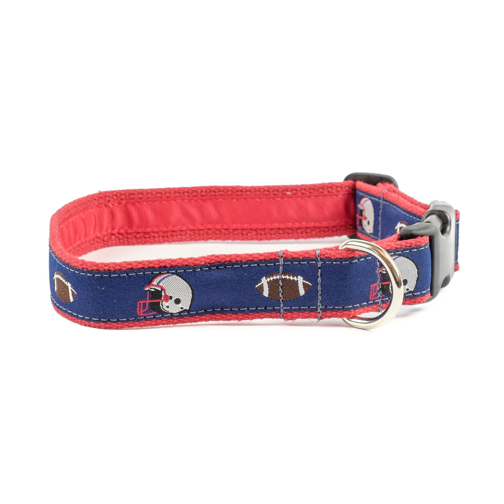 Navy Football Dog Collar 1""