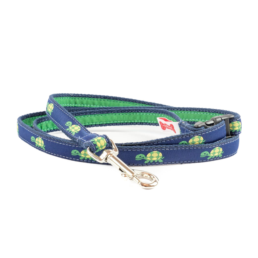 Turtle Dog Leash - Navy Webbing