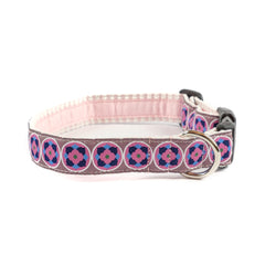 Bloom Dog Collar - Pink Seersucker
