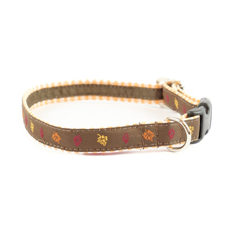 Fall Leaves Dog Collar 5/8