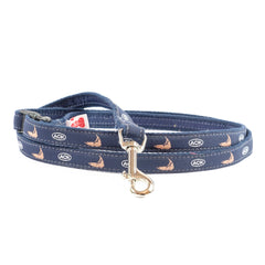 ACK Island Dog Leash - Navy Webbing