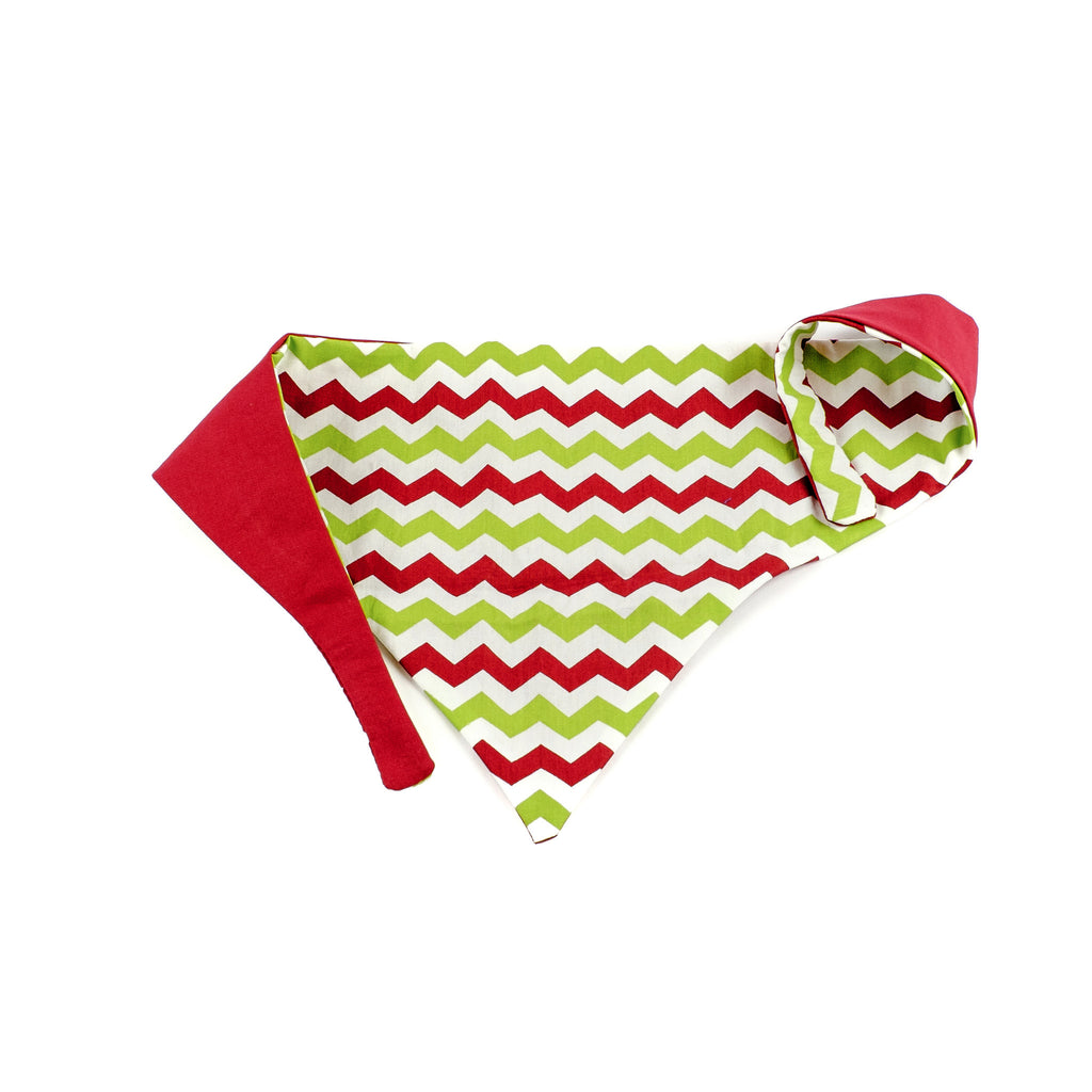 Red & Green Chevron Bandana
