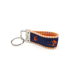 Orange Skiers Key Fob