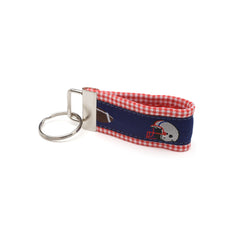 Blue Football Key Fob