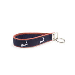 Cape Cod Key Fob - Nantucket Red Webbing