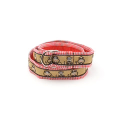 Monkey Belt - Red Gingham