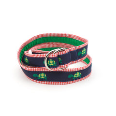 Turtle Belt - Red Gingham
