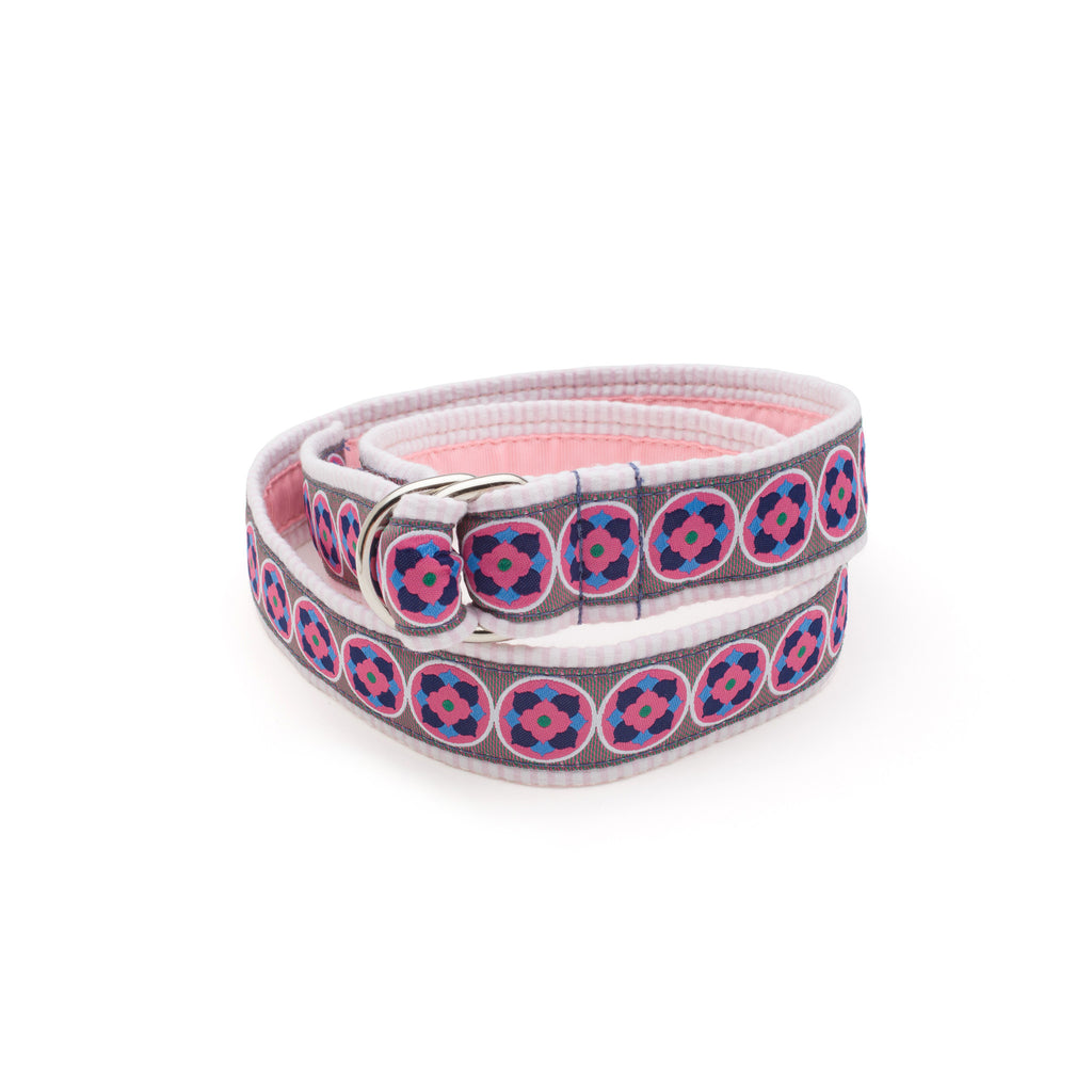 Bloom Belt - Pink Seersucker