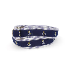 Anchor Belt - Blue Seersucker