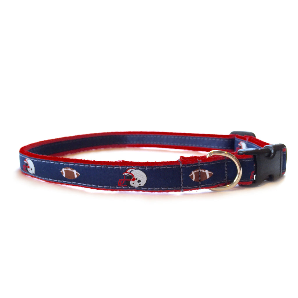 Navy Football Dog Collar 5/8""