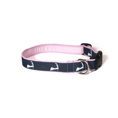 Cape Cod Dog Collar - Pink Webbing