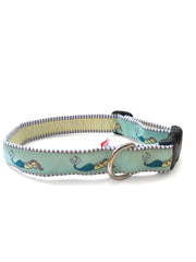 Mermaid Seafoam Dog Collar 1""