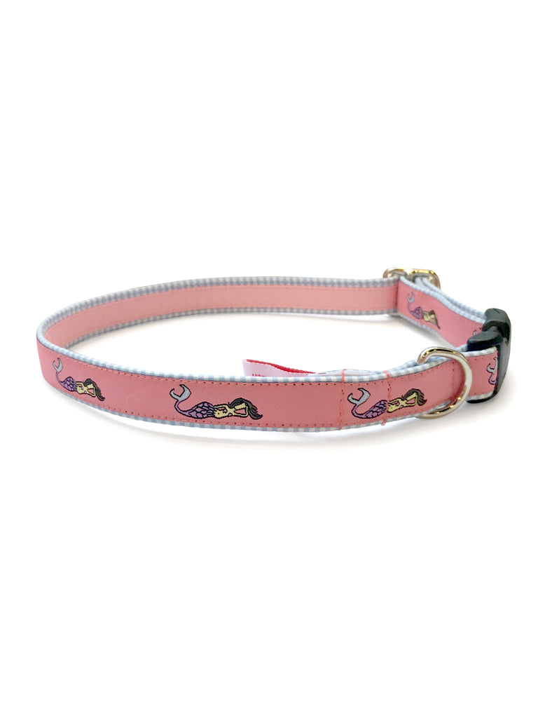 Mermaid Coral Dog Collar 5/8""