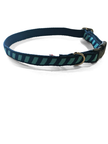 Teal Repp Dog Collar 5/8