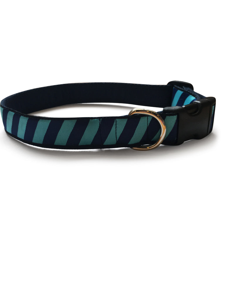 Teal Repp Dog Collar 1""