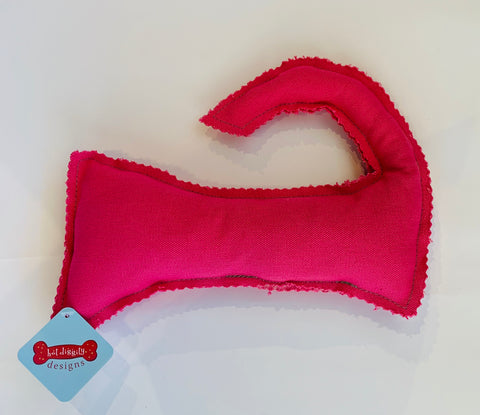 Pink Cape Cod Dog Toy