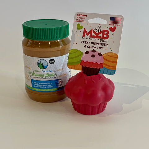 Medium Treat Dispenser & Pawnut Butter Combo