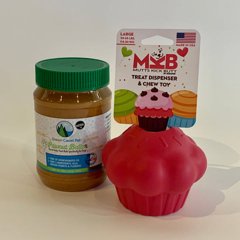 Large Treat Dispenser & Pawnut Butter Combo