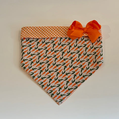 Easter Carrot bandana With Bow
