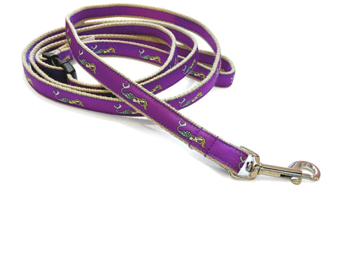 Mermaid Purple Dog Leash 5/8