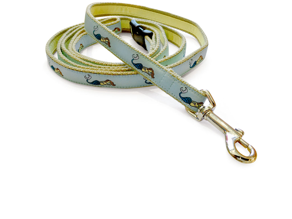 Mermaid Seafoam Dog Leash 5/8""