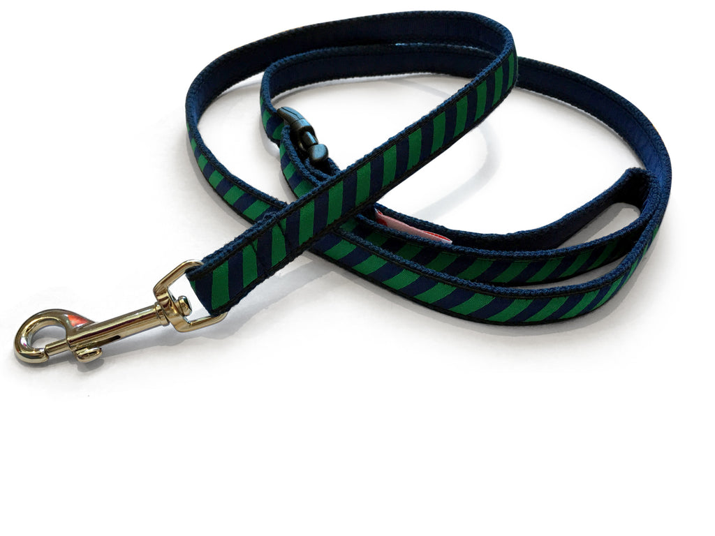 Green Repp Dog Leash 5/8""