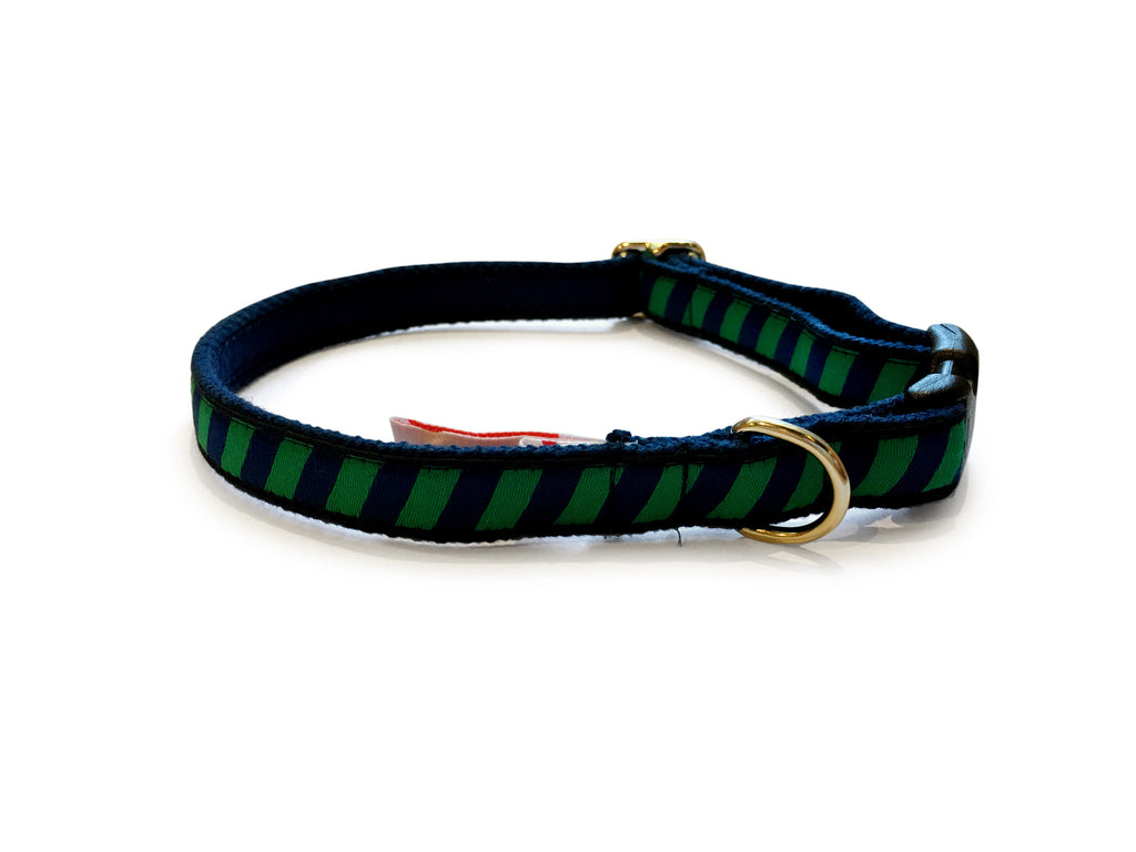 Green Repp Dog Collar 5/8""