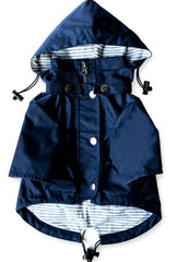 Navy Dog Raincoat