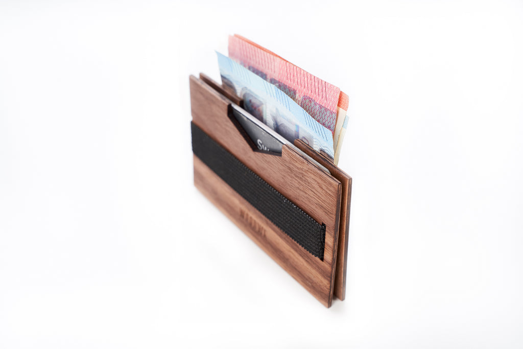 Wallet Holder - Walnut Wood