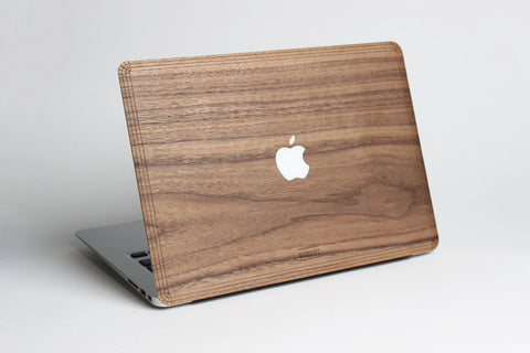 Macbook Wood Cover Case Sticker Decal Walnut