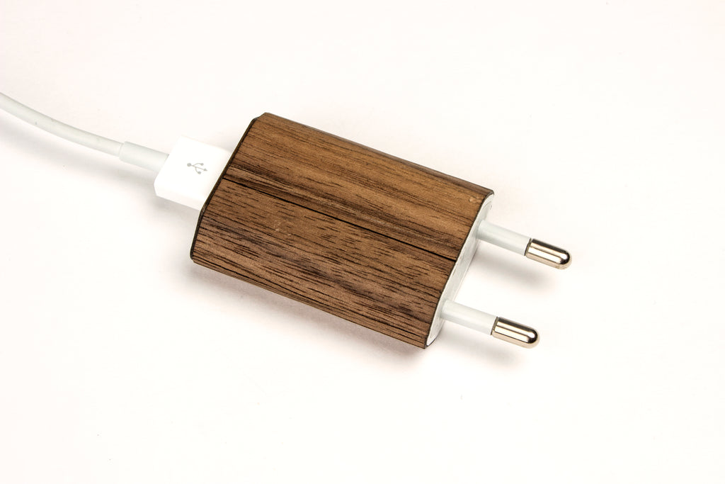 Real Wood Wrap/Skin for iPhone Charger