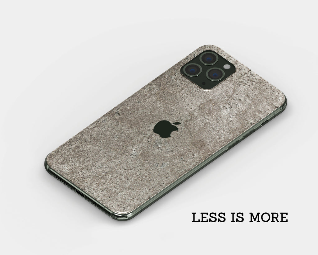 IPhone Skin - Silver Grey Stone