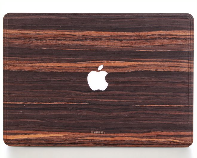 Macbook Wood Cover - Ebony
