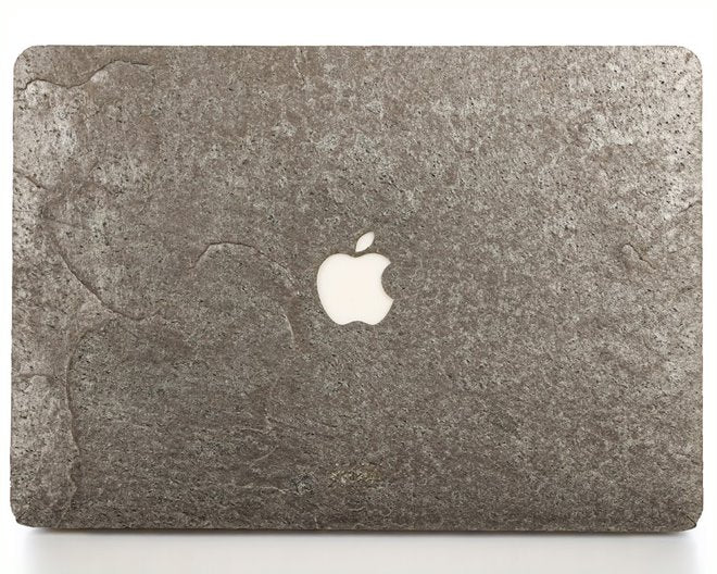 Model: A1425//A1502; Late 2012 Early 2015 TOP/&BOTTOM WOODWE/® Real Stone Macbook Skin for Mac Pro 13 inch Retina Display Natural SILVER GREY Stone