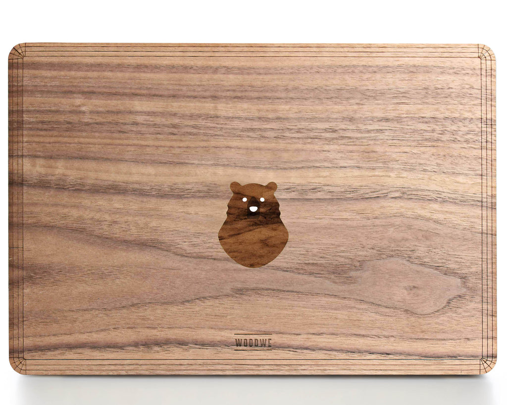 Spooky Bear - Character - Macbook Wood Cover