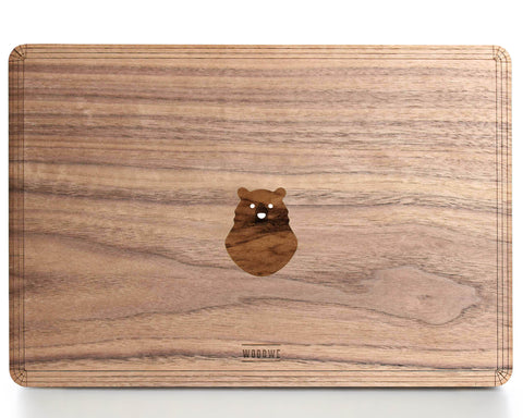 Spooky Bear - Character - Macbook Wood Cover - Walnut