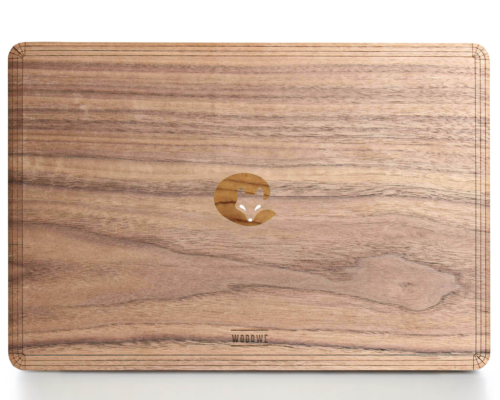 Sleepy Fox - Character - Macbook Wood Cover