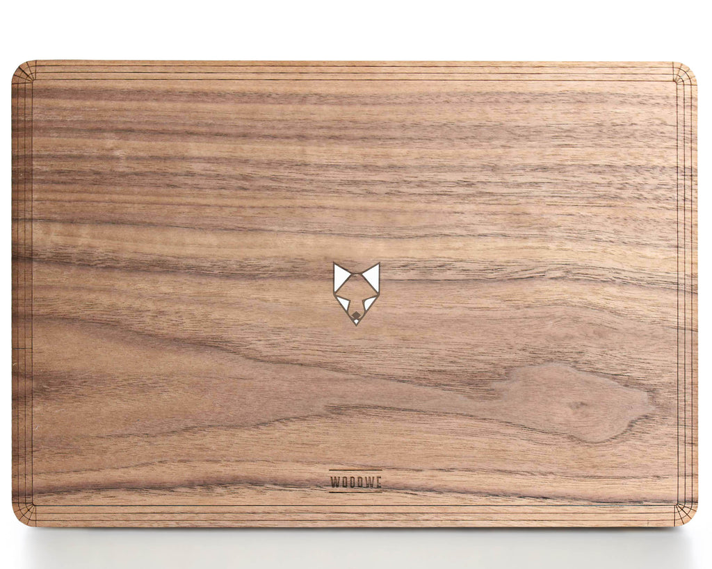 Fox in the Woods - Minimal - Macbook Wood Cover