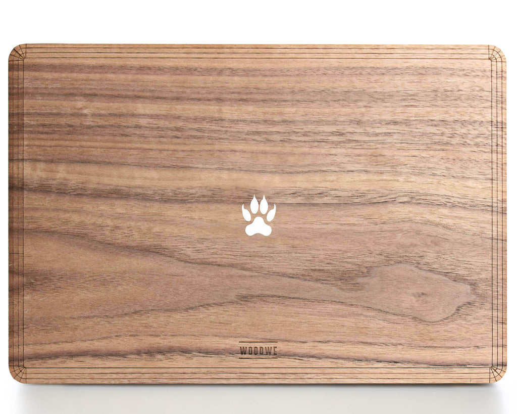 Wild Paw - Minimal - Macbook Wood Cover