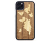 iphone case cover wood protection protective collections earthday walnut world map