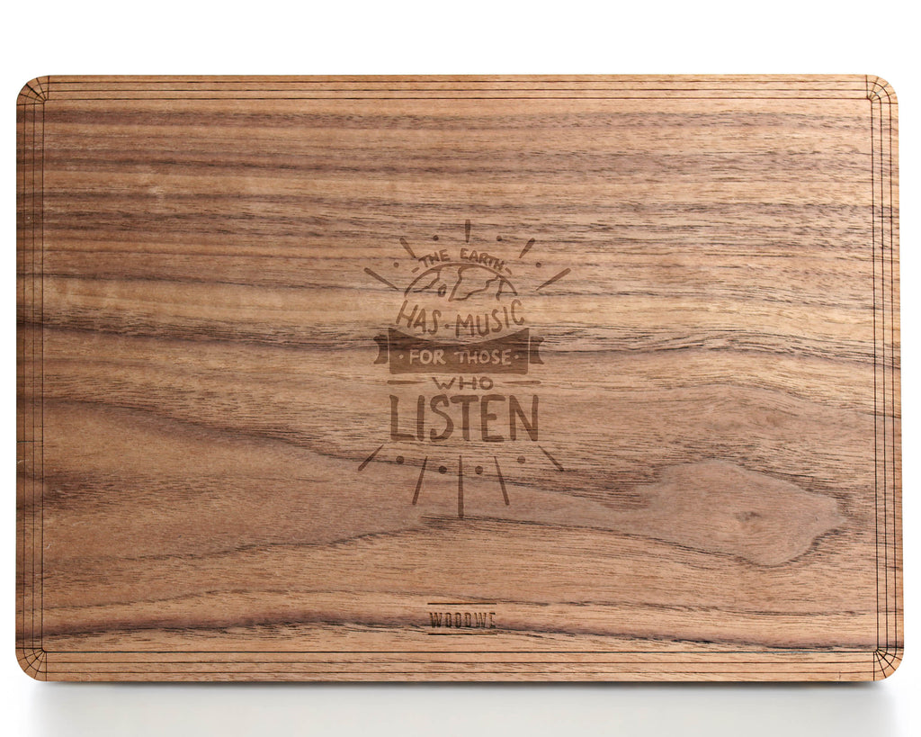 Earth has Music - Macbook Wood Cover