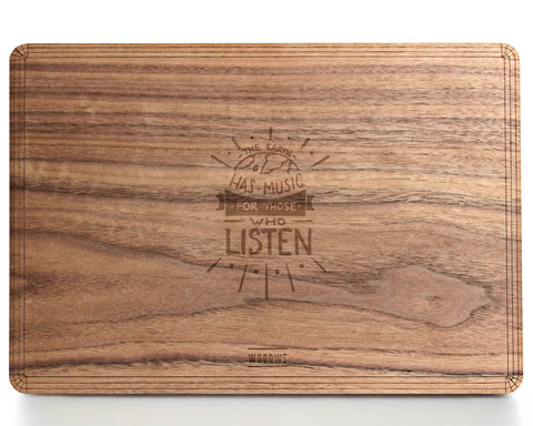 Earth has Music Wood Case - Walnut Wood - Cover