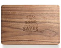 Saves Us - Macbook Wood Case - Walnut